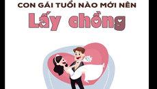 Tuổi nào con gái nên lấy chồng