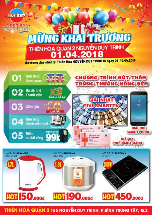 Khai trương điện máy Thiên Hòa Nguyễn Duy Trinh Quận 2