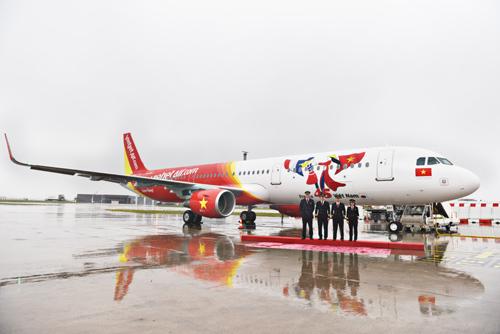 Vietjet nhận tàu bay mang biểu tượng tình hữu nghị Việt - Pháp