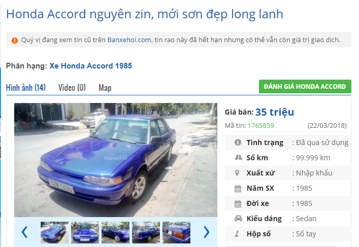 Ngỡ ngàng với top ô tô cũ đang rao bán với giá chỉ dưới 45 triệu