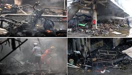 Chợ Thanh Liệt trơ trụi đống tro tàn sau cháy lớn