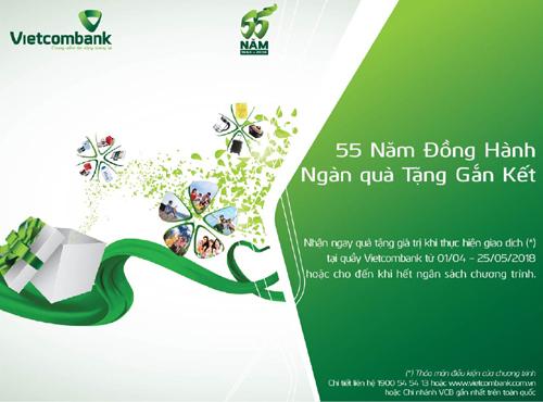 55 năm Vietcombank: Ngàn quà tặng gắn kết tri ân khách hàng
