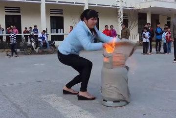 Cách chữa cháy khi bị rò bình ga