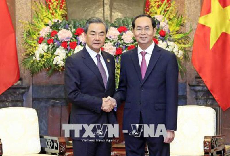 Chủ tịch nước tiếp Ủy viên Quốc vụ, Bộ trưởng Ngoại giao Trung Quốc