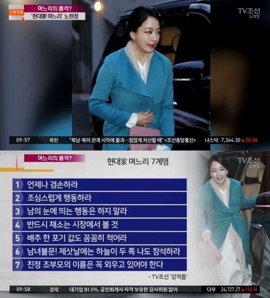 Noh Hyun Jung,Nguyên tắc làm dâu,Giới nhà giàu,Hàn Quốc