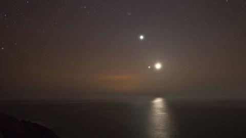Sao Mộc và Sao Kim từng giao hội trên bầu trời gần đây