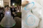 Cô dâu Bến Tre tự làm váy cưới phát sáng giá 200 triệu 'gây sốt'
