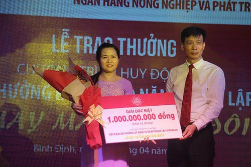 Lộ diện chủ nhân giải thưởng 1 tỷ đồng từ Agribank