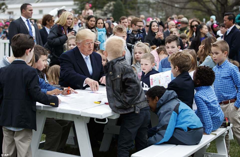 Donald Trump,Melania Trump,lễ Phục sinh,lăn trứng