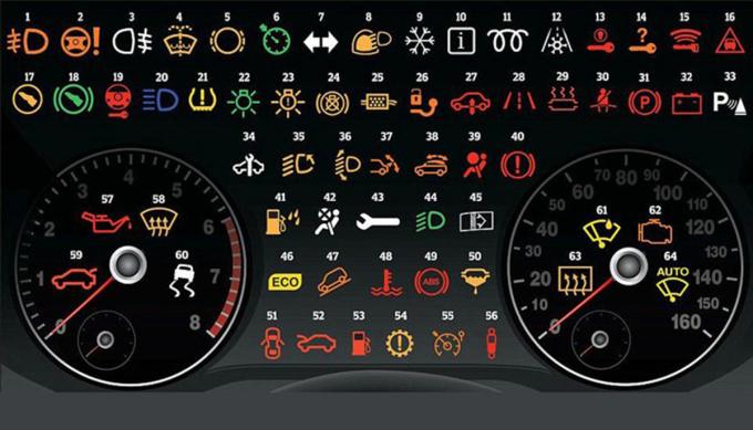 Ý nghĩa của 64 biểu tượng trên bảng táp lô xe hơi