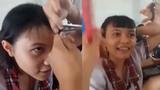 Đừng bao giờ dại dột cho bạn học cắt tóc