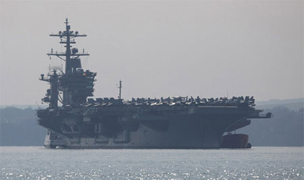 Sức mạnh biên đội tàu sân bay Mỹ có thể sắp vào Biển Đông