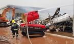 14 xe chữa cháy Trung Quốc cùng dập cháy ở Quảng Ninh