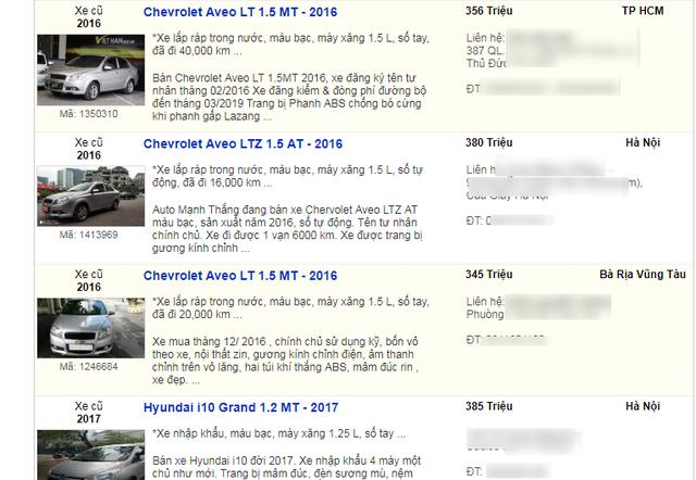 Ô tô dưới 400 triệu bán tràn ngập: Chơi xe lướt tha hồ chọn