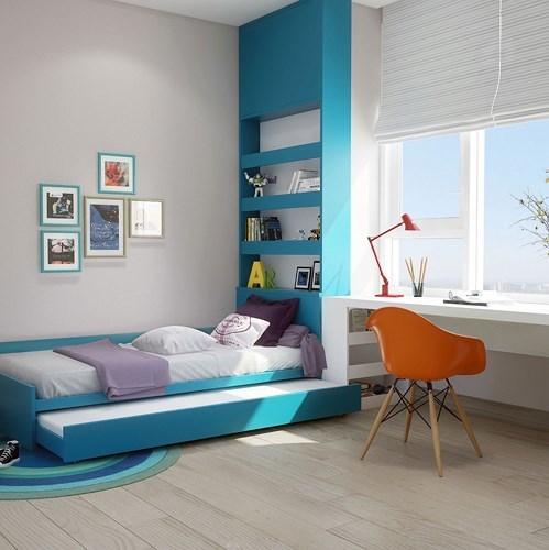 nội thất,nội thất phòng ngủ,nội thất màu xanh dương