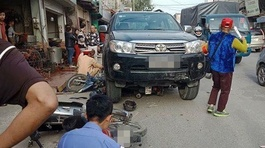Hà Nội: Ô tô đâm liên tiếp 3 xe máy, 1 người chết