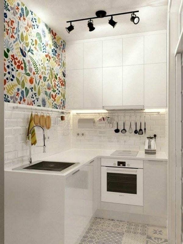 Những ý tưởng làm mới căn bếp nhỏ đón hè sang bằng giấy dán tường