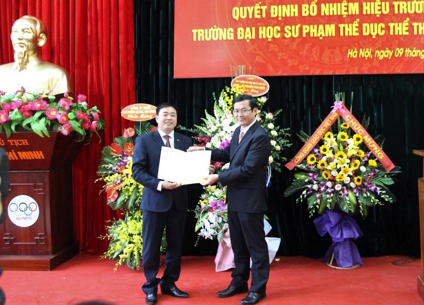 Trường ĐH Sư phạm Thể dục Thể thao Hà Nội có hiệu trưởng mới