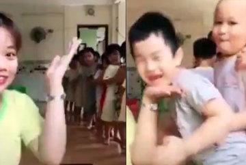 Chết cười khi cô giáo và học sinh chạy theo trào lưu