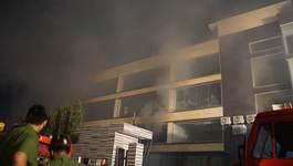 Cháy lớn tại kho bánh ABC ở Sài Gòn