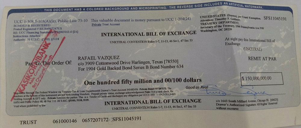 Bí ẩn hai tờ hối phiếu 5 tỉ USD của 'doanh nhân' Mỹ ở Việt Nam