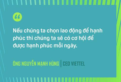CEO Nguyễn Mạnh Hùng: 3 nguyên tắc xây dựng Viettel hạnh phúc