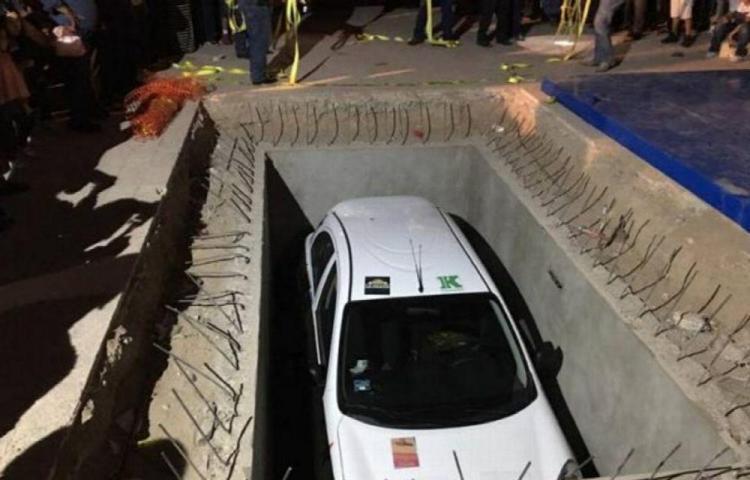 Chôn xe xuống đất, nửa thế kỷ sau mới được dùng