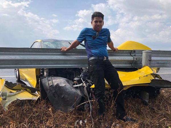 Đại gia Việt phá nát siêu xe 6 tỷ chỉ để thử túi khí