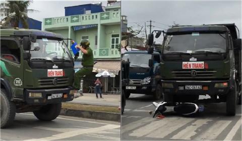 xe tải đẩy xe CSGT