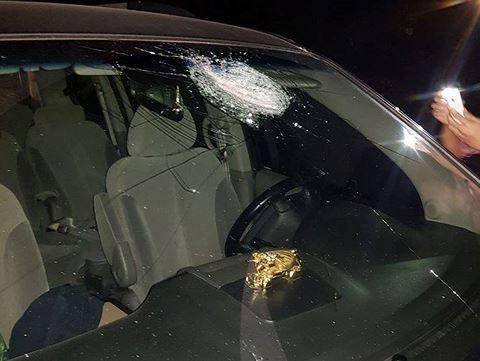 Hàng loạt ô tô bị ném đá trong đêm trên cao tốc Hà Nội - Thái Nguyên