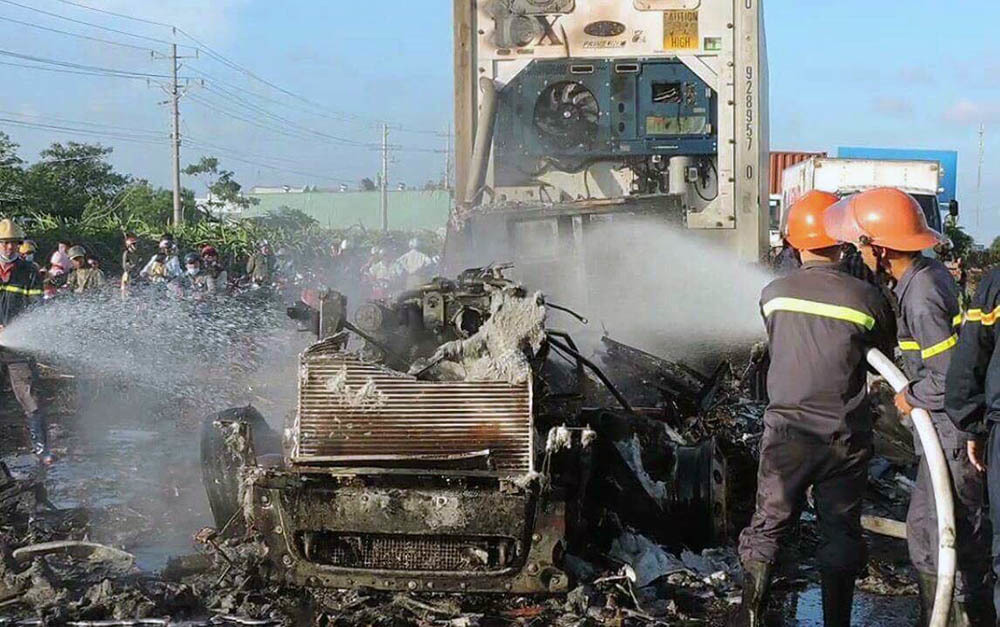 cháy xe,hoả hoạn,Bình Thuận