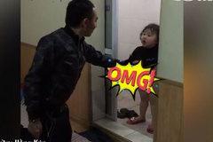 Chết cười xem hai bố con cãi nhau chuyện giặt quần áo