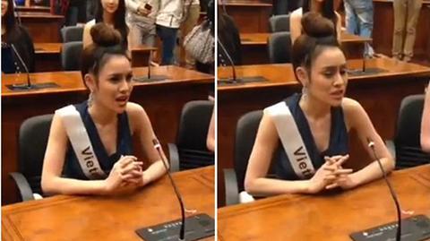 Clip Thư Dung gây thất vọng khi phát biểu bằng tiếng Anh