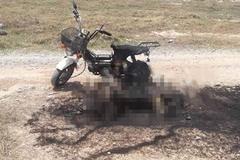 Thi thể người phụ nữ cháy đen ở bãi đất trống