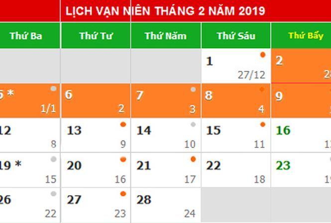 Đề xuất Tết Dương lịch 2019 nghỉ 4 ngày, Tết Âm lịch nghỉ 9 ngày