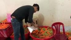 Khủng khiếp: Tẩy trắng hơn 6 tấn củ cải, cà rốt bằng hóa chất