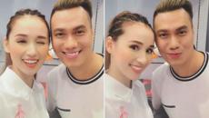 Việt Anh tóc vàng hoe tái ngộ Lã Thanh Huyền