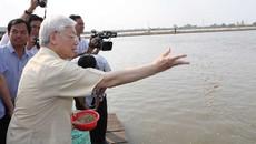 Tổng bí thư thăm và làm việc tại tỉnh An Giang