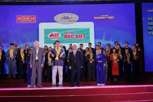 Thực phẩm Đức Việt nhận Giải Rồng Vàng