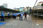 Tháo dỡ bãi giữ 350 xe ô tô một ngày ở Hà Nội