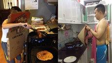 Thảm họa' sẽ đến ngay lập tức khi bắt đàn ông... vào bếp