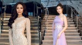 Nguyễn Loan và Đỗ Mỹ Linh đọ độ sang trong đầm dạ hội