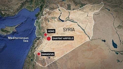Syria,tên lửa,không kích