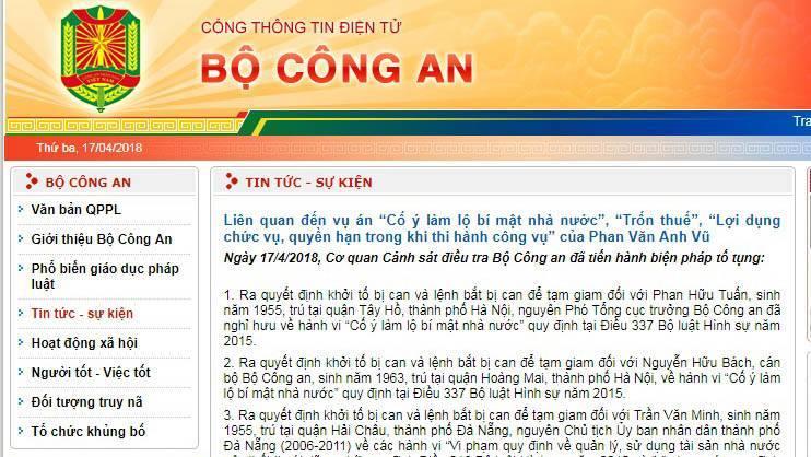 Khởi tố, bắt cựu Phó tổng cục trưởng Bộ Công an Phan Hữu Tuấn