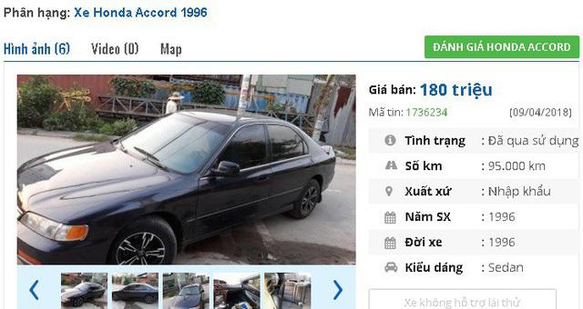 Những ô tô Honda cũ đang rao bán tầm giá 200 triệu tại Việt Nam