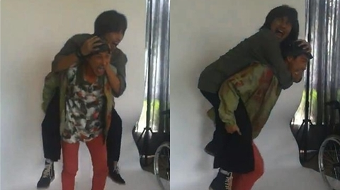 Hậu trường chụp ảnh vui nhộn của Huy Khánh và Kiều Minh Tuấn