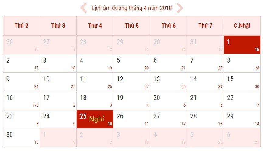 Giỗ Tổ Hùng Vương 2018 là vào ngày nào, được nghỉ mấy ngày?