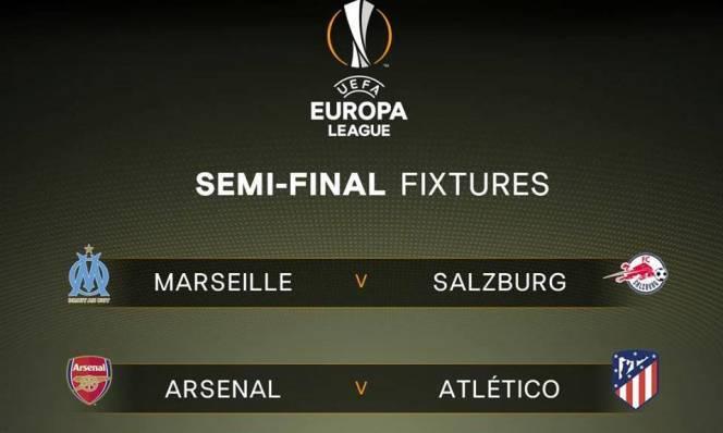 Lịch thi đấu vòng bán kết Europa League 2017/2018