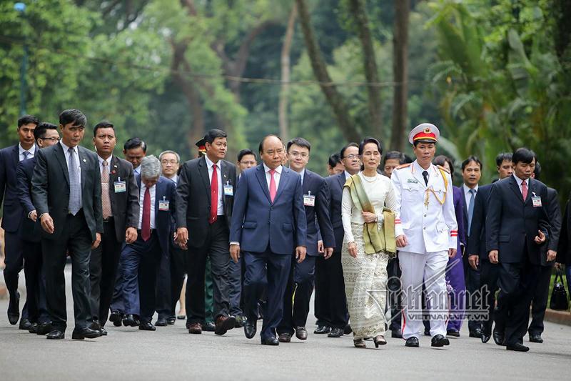 Thủ tướng Nguyễn Xuân Phúc,Aung San Suu Kyi,Myanmar
