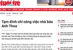 Tuổi Trẻ đình chỉ nhà báo Anh Thoa để xác minh nghi vấn xâm hại tình dục